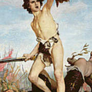 David Victorious Over Goliath Poster