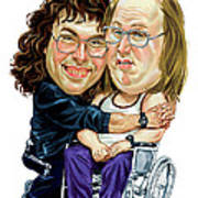 David Walliams And Matt Lucas As Lou And Andy Poster by Art