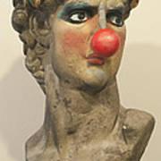 David With Makeup And Clown Nose 1 Poster