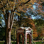 Davidson College Old Well In Autumn Poster