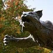 Davidson College Wildcat Statue Poster