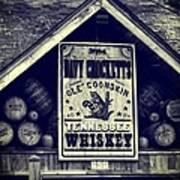Davy Crocketts Tennessee Whiskey Poster