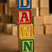 Dawn - Alphabet Blocks Poster