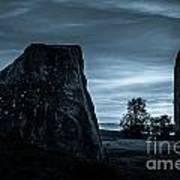 Dawn At Avebury Stone Circle Poster