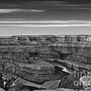 Dawn At Dead Horse Point Bw Poster