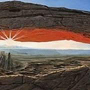 Dawn At Mesa Arch Canyonlands Utah Poster