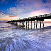 Dawn At The Juno Beach Pier Poster