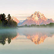 Dawn Of Oxbow Bend Poster