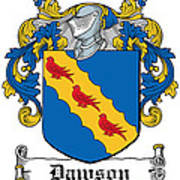 Dawson Coat Of Arms Irish Poster