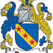 Dawson Coat Of Arms Londonderry Ireland Poster