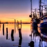Daybreak On Pensacola Bay Poster