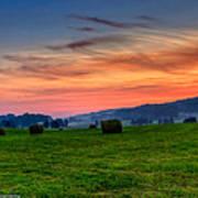 Daybreak On The Farm Poster by Paul Herrmann