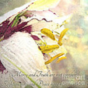 Daylily Photoart With Verse Poster