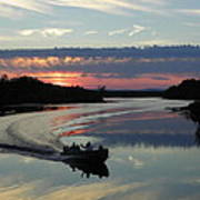 Day's End On The Sebec River Poster