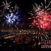 Dazzling Fireworks II Poster by Ray Warren