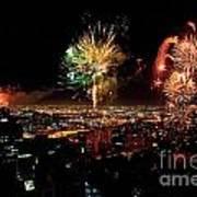 Dazzling Fireworks Iv Poster