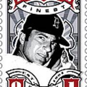 Dcla Carl Yastrzemski Fenway's Finest Stamp Art Poster by David Cook Los Angeles