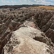 Dead End Trail In Badland National Park South Dakota Poster