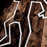 Dead Man Outline On Floor Poster