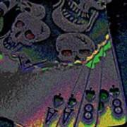 Dead Man's Hand Poster by Rebecca Flaig