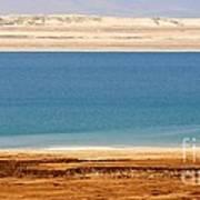 Dead Sea Shoreline In Jordan Poster