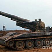 Death Dealer II  8 Inch Howitzer  At Lz Oasis Vietnam 1968 Poster