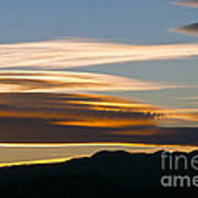 Death Valley Evening Sky Poster