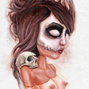 Deathlike Skull Impression Poster
