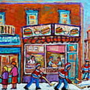 Decarie Hot Dog Restaurant Ville St. Laurent Montreal  Poster