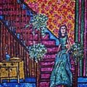 Decending Staircase Poster by Linda Vaughon
