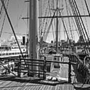 Deck Of Balclutha 3 Masted Schooner - San Francisco Poster by Daniel Hagerman