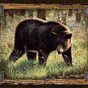 Deco Black Bear Poster