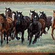 Deco Horses Poster by JQ Licensing