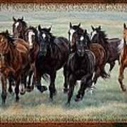 Deco Horses Poster