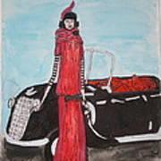 Deco Mama W/convertible Poster by Mary Kay De Jesus