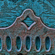 Deco Metal Blue Poster