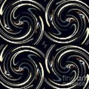 Deco Swirls Poster