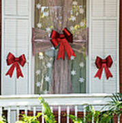 Decorated Christmas Window Key West Poster