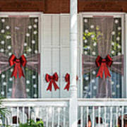 Decorated Christmas Windows Key West  Poster