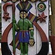 Decoration On Wooden Door In Lansdowne Poster