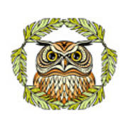 Decorative Illustration With An Owl Poster