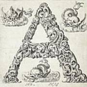 Decorative Letter Type A 1650 Poster