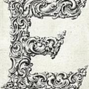 Decorative Letter Type E 1650 Poster