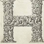 Decorative Letter Type H 1650 Poster