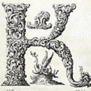 Decorative Letter Type K 1650 Poster