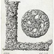 Decorative Letter Type L 1650 Poster