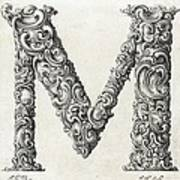 Decorative Letter Type M 1650 Poster