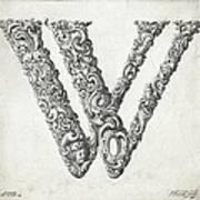 Decorative Letter Type W 1650 Poster