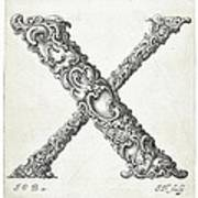Decorative Letter Type X 1650 Poster