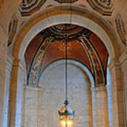Decorative Light At The New York Public Library Poster
